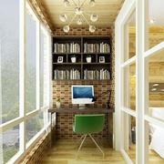 田园风格阳台书房设计