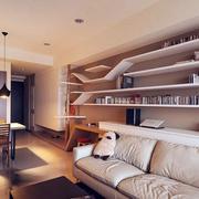 美式客厅大型置物架装饰