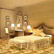 欧式奢华卧室地毯装修