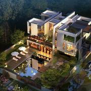 大型别墅3D外观图