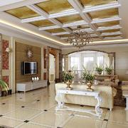 简欧别墅客厅地板装饰