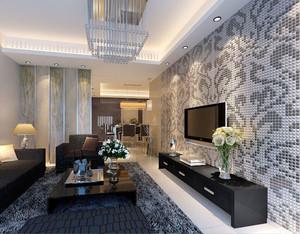 美也要美得精致:三室二厅客厅马赛克背景墙装修效果图欣赏大全