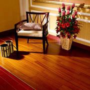 美式客厅红木地板