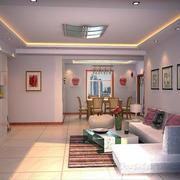 三室两厅客厅背景墙设计