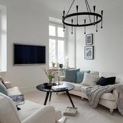 北欧风格三室两厅简约沙发装修