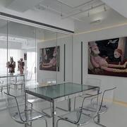 loft公寓餐厅背景墙装饰