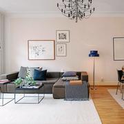 公寓灰色简约沙发装饰