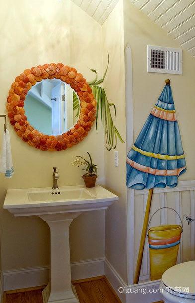 小户型卫生间萨米特瓷砖背景墙装修效果图鉴赏图集