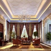 美式高挑错层客厅设计