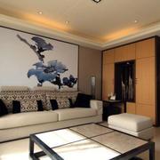 120平米房屋后现代风格客厅吊顶设计
