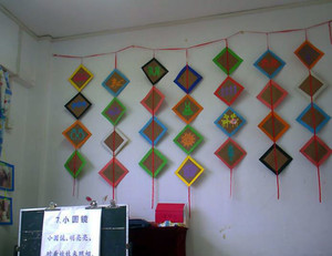 幼儿园室内吊饰布置图片大全