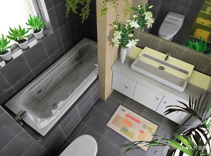 别墅大型卫生间装修效果图