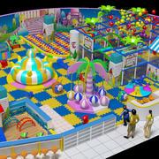 儿童游乐场3D模拟现场