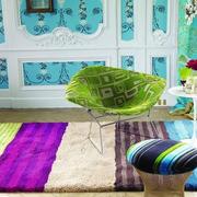 欧式气质客厅毛地毯装修