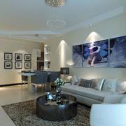 客厅简欧风格沙发效果图