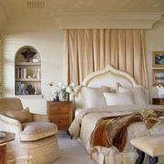 欧式奢华别墅卧室效果图