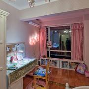 别墅粉色轻快儿童房