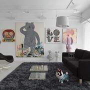 loft公寓客厅背景墙设计