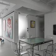 loft风格玻璃餐桌装饰