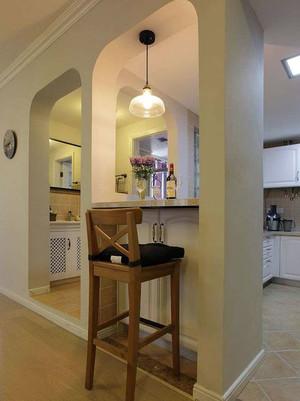 温馨典雅的欧式厨房吧台设计装修效果图欣赏大全