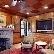 美式原木客厅led灯饰设计