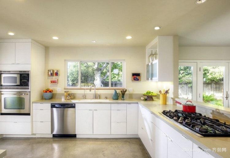 完美的大户型欧式厨柜装修效果图欣赏大全