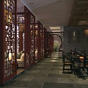 古韵餐厅拱形小隔断