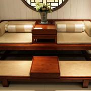 古典中式原木床