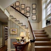 美式简约风格楼梯效果图