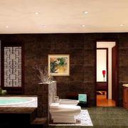 中式大型卫生间设计