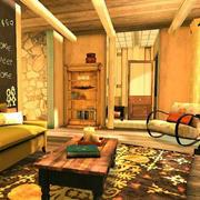 美式暖色客厅装饰