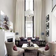 后现代风格高挑客厅飘窗设计