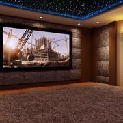 简约风格家庭影院背景墙设计