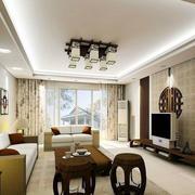 120平米房屋简约风格背景墙装修