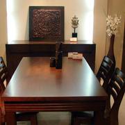 中式客厅实木桌椅装修