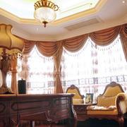 大型别墅欧式实木桌椅设计