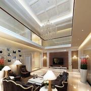 双层别墅欧式客厅设计