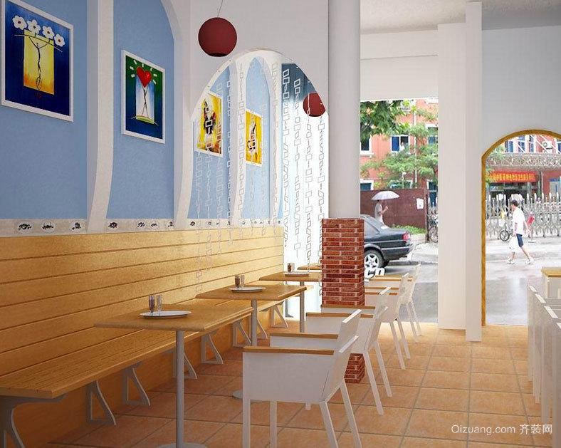 满足您的食欲:马路边上的特色面馆室内装修设计效果图实例欣赏图集
