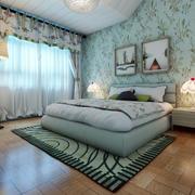 欧式清新风格卧室床头背景墙设计