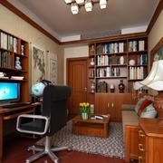 原木色整体书房装修