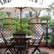 花园原木休息桌设计