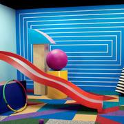 色彩鲜艳的滑滑梯设计