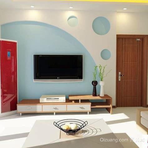 超豪华欧式客厅简欧风格电视背景墙装修效果图一览