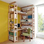 书房木制书架摆设
