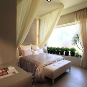 欧式卧室唯美飘窗装饰
