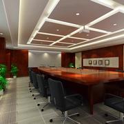 现代风格会议室吊顶设计