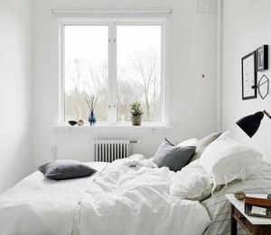现代简约清新小户型一居室小卧室装修效果图