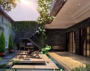 大型豪华别墅阳台设计装修效果图