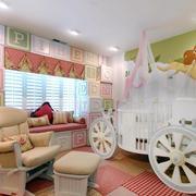 欧式奢华马车儿童房床饰