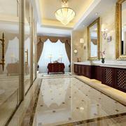 欧式大型卫生间洗漱池设计